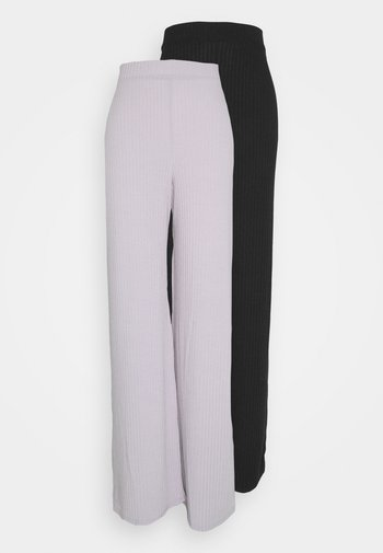 WID LEG TROUSER 2 PACK - Bukse - black/grey