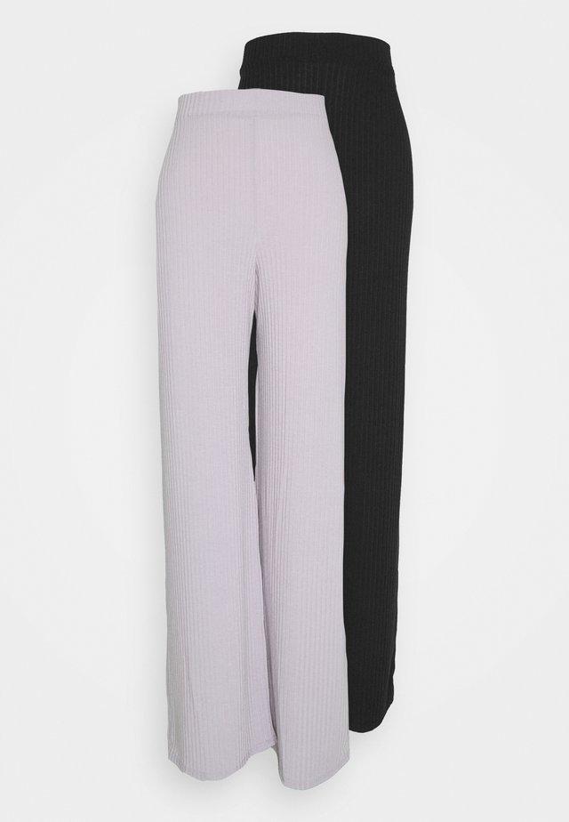 WID LEG TROUSER 2 PACK - Trousers - black/grey