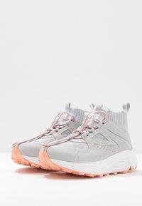 HUGO - HORIZON RUNN - Sneakersy wysokie - grey - 4