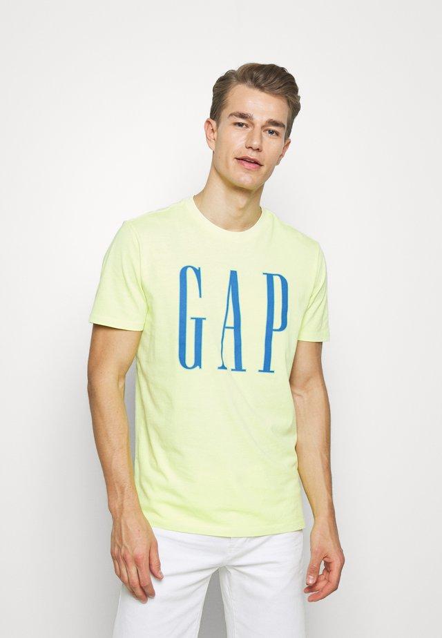 LOGO - Print T-shirt - wild lime