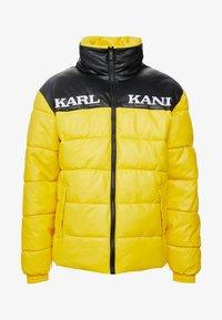 Karl Kani - RETRO BLOCK PUFFER JACKET - Zimní bunda - yellow/black - 4