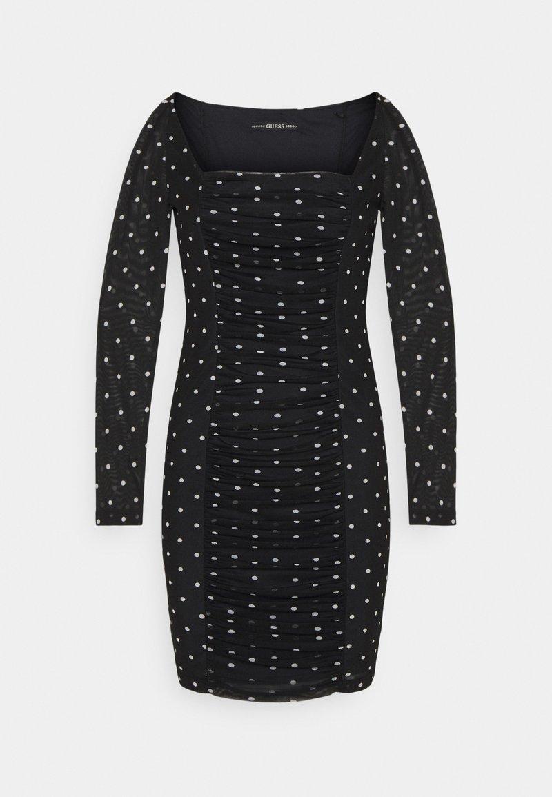Guess - GAYLE DRESS - Shift dress - black/white