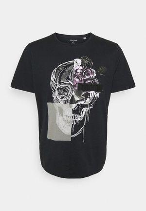 JORMATT TEE CREW NECK - Print T-shirt - black