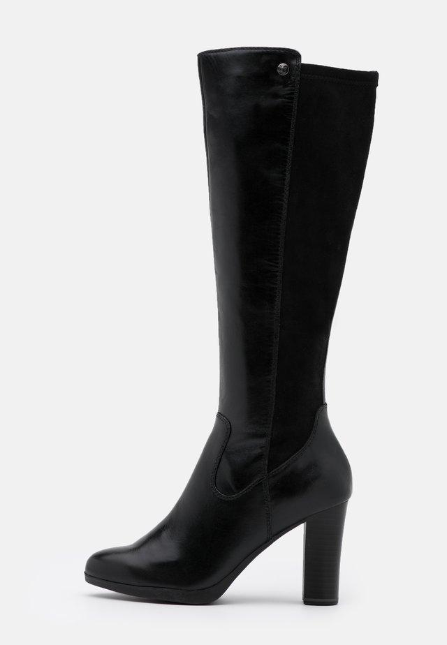 BOOTS - Kozačky na vysokém podpatku - black