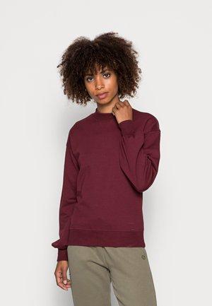 Crew neck puff sleeve sweater - Mikina - bordeaux