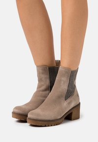 Tamaris - BOOTS - Platform ankle boots - taupe - 0