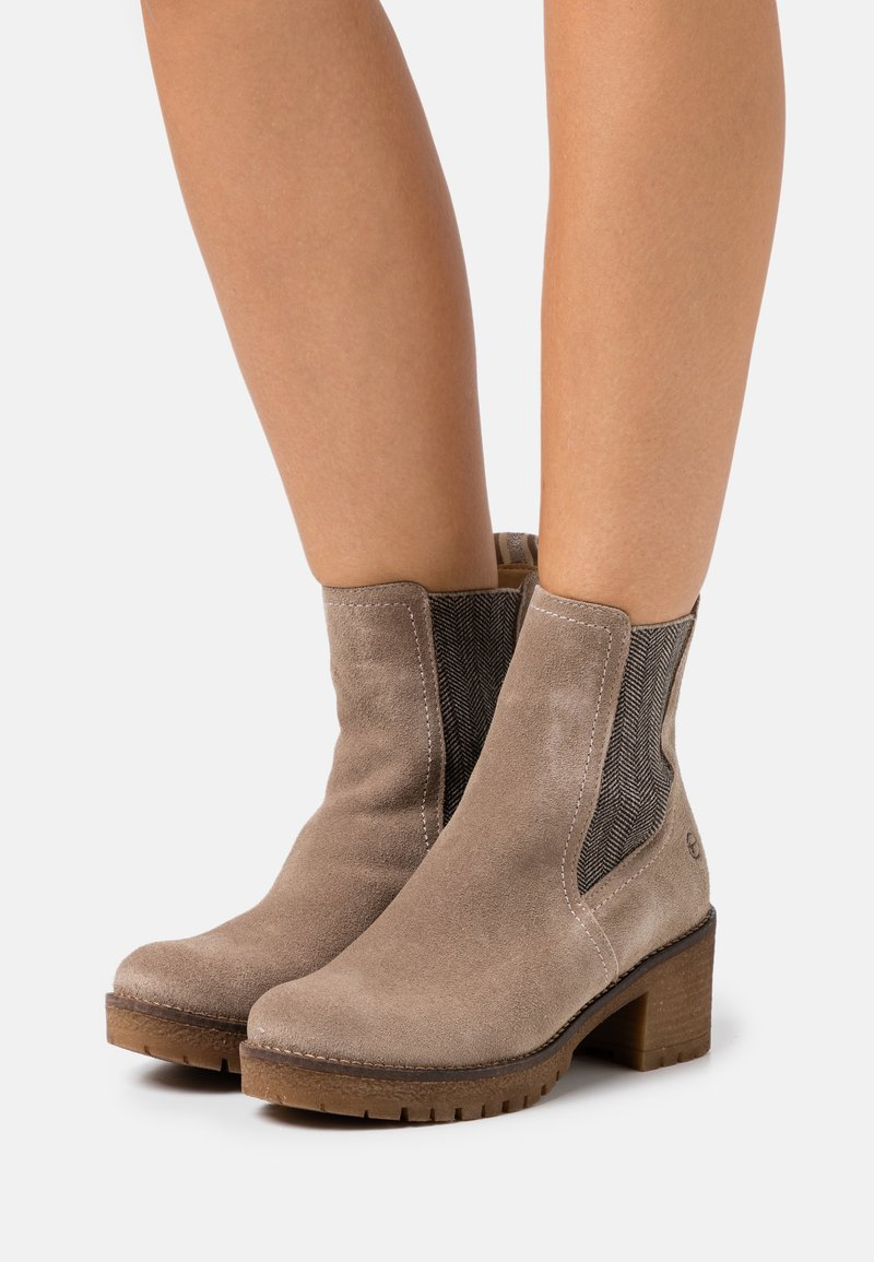 Tamaris - BOOTS - Platform ankle boots - taupe