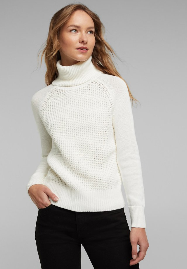 COWL NECK - Jumper - off white