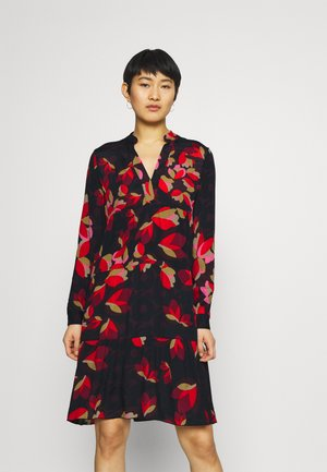 MIDI - Day dress - red/pink/black