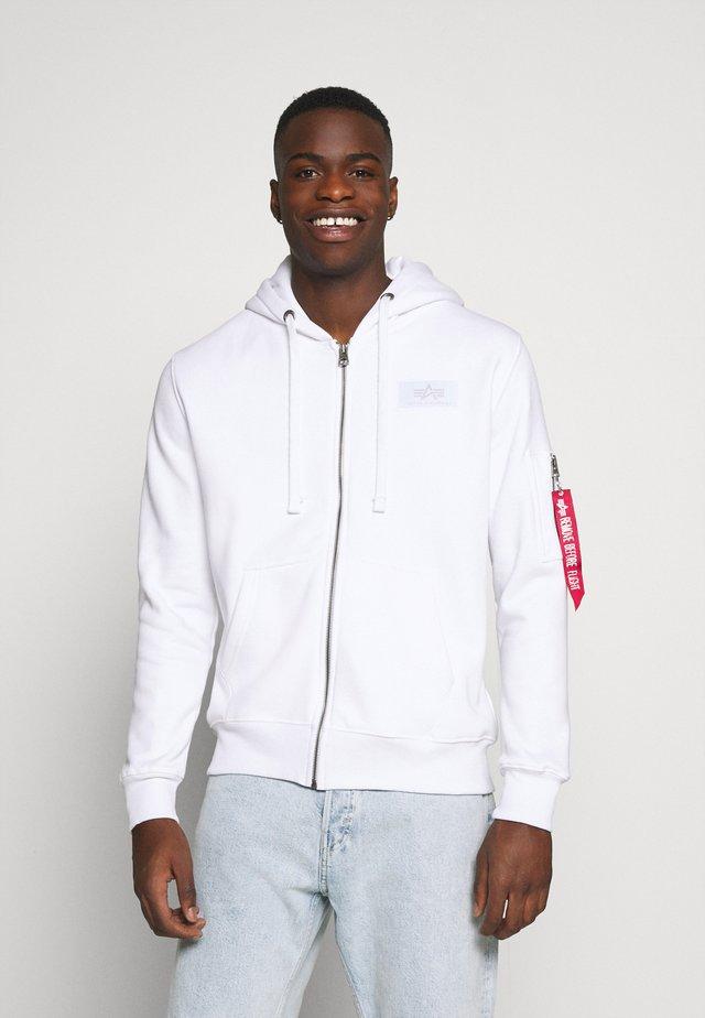 BACK PRINT ZIP HOODY - veste en sweat zippée - white