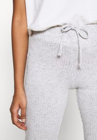 Topshop - TIE FLARE - Tracksuit bottoms - grey marl - 5