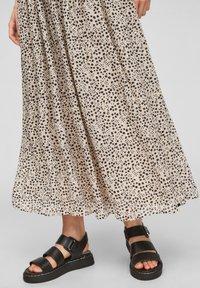 Q/S designed by - Maxi skirt - beige aop - 5