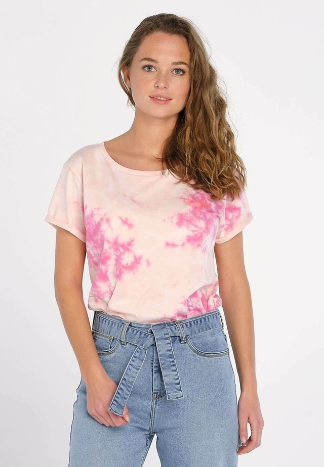 SYDNEY TIE AND DYE - T-shirt print - rose