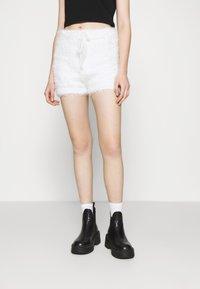 Miss Selfridge - EYELASH KNIT SHORT - Shorts - cream - 0