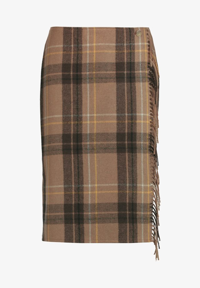 Pencil skirt - ecru/weiss/gelb gemustert