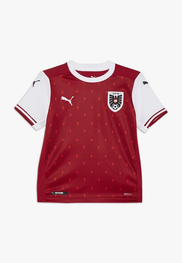 ÖSTERREICH ÖFB HOME REPLICA JUNIOR - National team wear - chili pepper/white/red