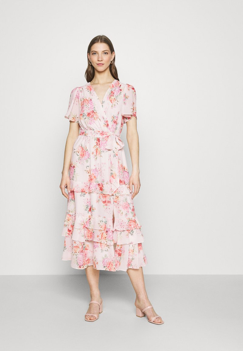 Forever New - SUSANNA RUFFLE TIERED MIDI DRESS - Day dress - blush spring