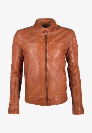 RYKER LABUV - Veste en cuir - cognac