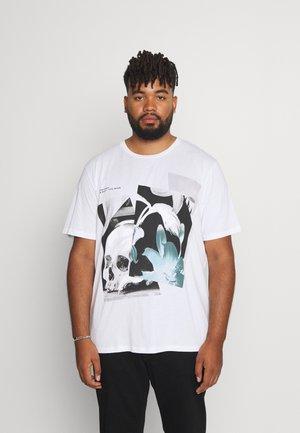 JORREFLECT TEE CREW NECK - Print T-shirt - bright white