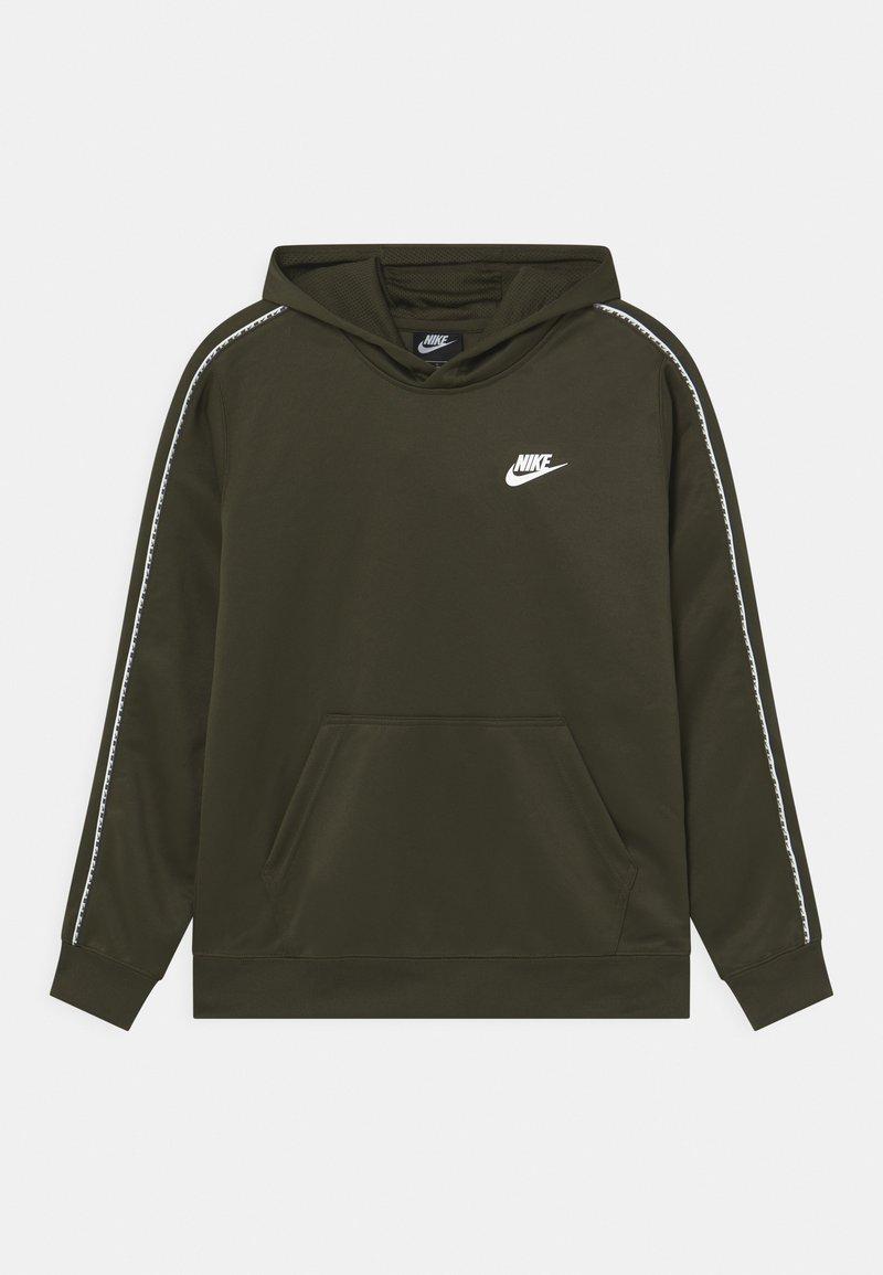 Nike Sportswear - REPEAT HOODIE - Hoodie - cargo khaki/white