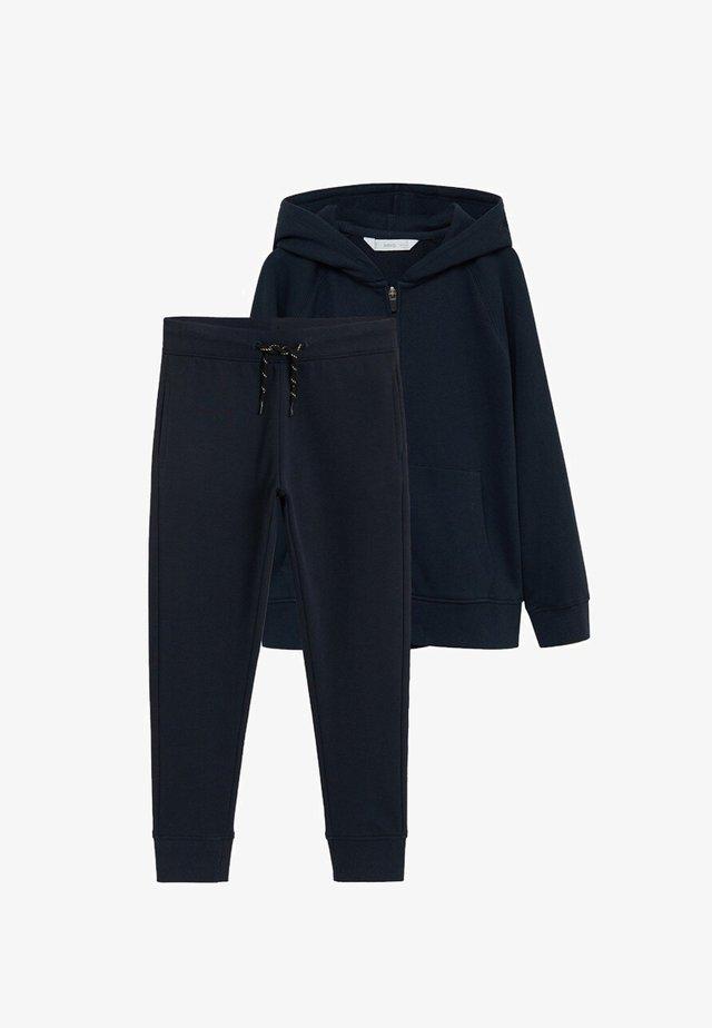SET - Zip-up hoodie - dunkles marineblau