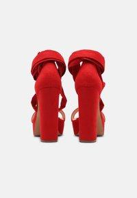 Even&Odd - Sandały na platformie - red - 3