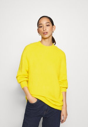 LOFTY YARN CREW NECK - Jumper - star fruit yellow