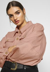 Missguided - BALLOON SLEEVE SHACKET - Denim jacket - blush - 3