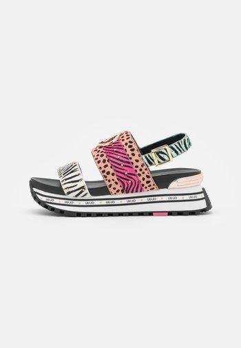 MAXI - Platform sandals - multicolor