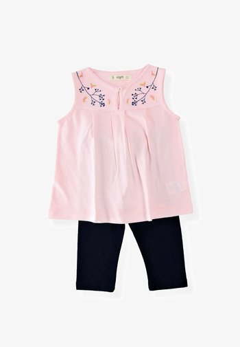 2 SET - Leggings - Trousers - light pink/black