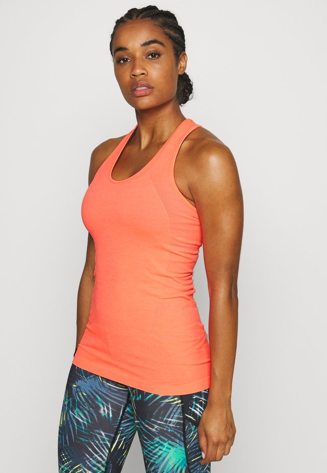 ATHLETE SEAMLESS WORKOUT - T-shirt sportiva - fluro flash pink