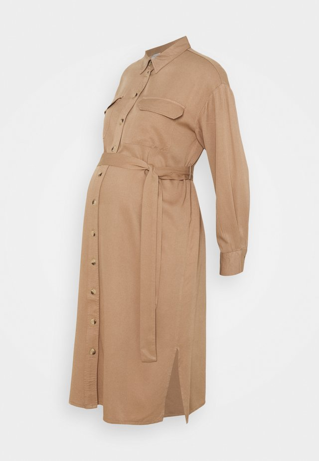 PCMGEROMA MIDI SHIRT DRESS - Robe chemise - warm taupe