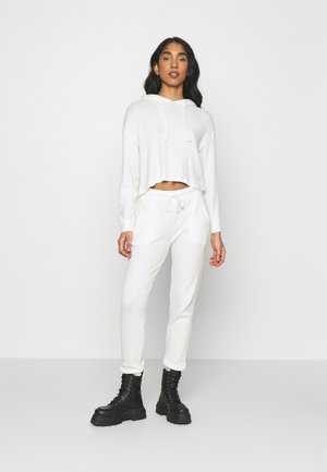 COSY BRUSHED JOGGER AND HOODY SET - Pullover - winter white