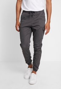 INDICODE JEANS - LAKELAND - Cargo trousers - dark grey - 0