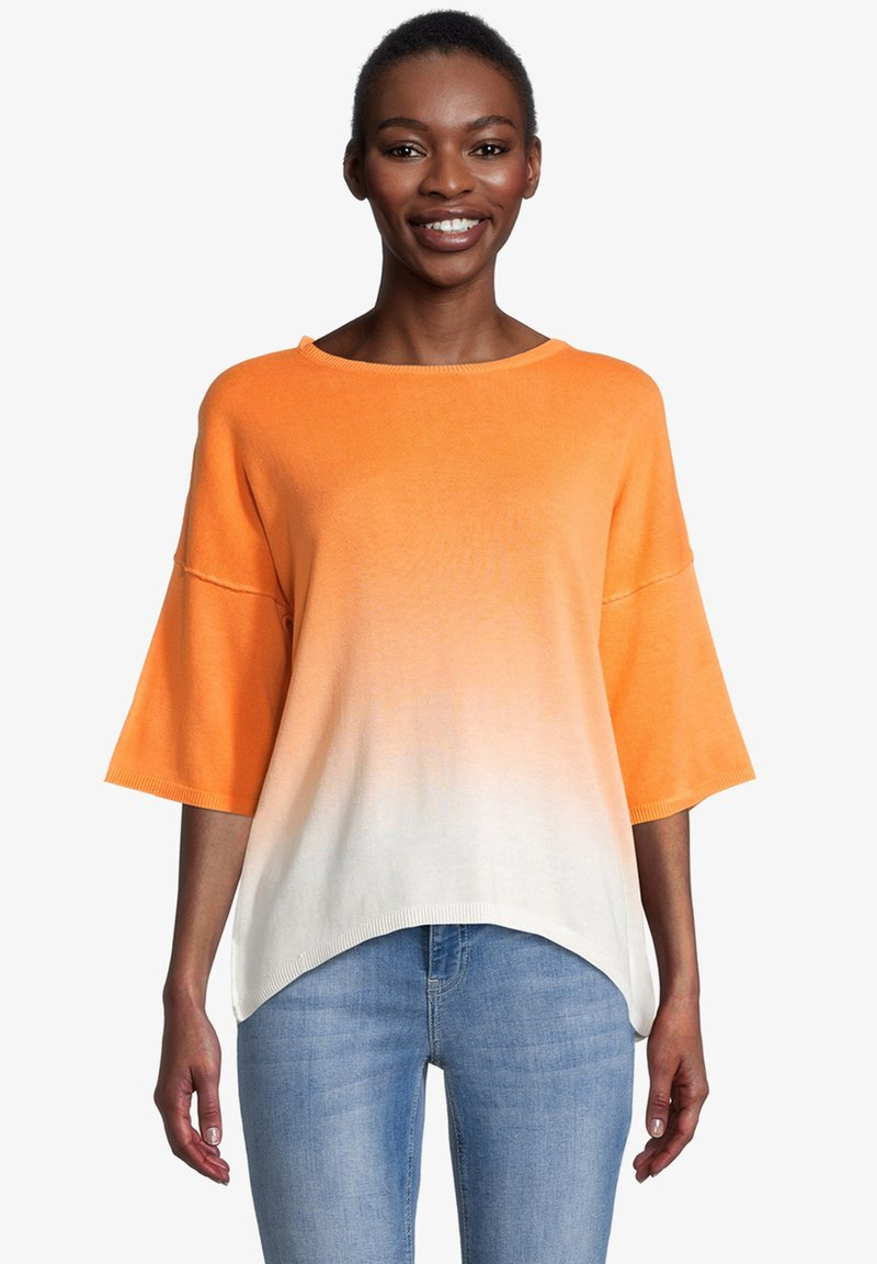 Cartoon - Jumper - white orange