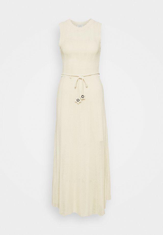 Sukienka dzianinowa - beige clair