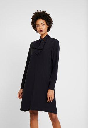 DRESS SLIGHTLY A-LINE STAND UP - Shirt dress - navy