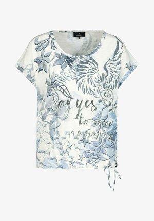MIT DRUCK - Print T-shirt - dusty blue