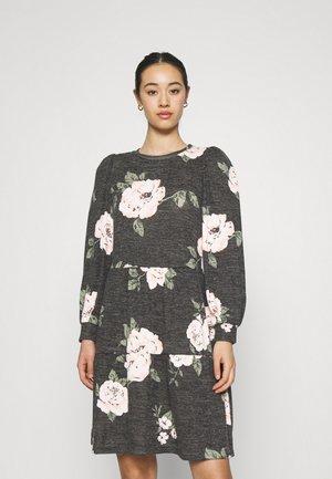 ONLSKY DRESS - Trikoomekko - black/big flower