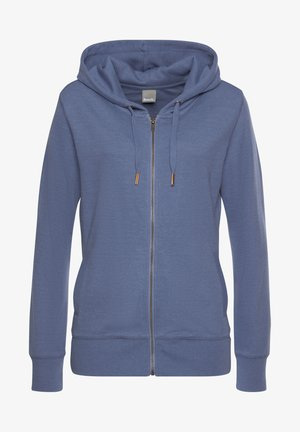 Zip-up hoodie - jeans-meliert
