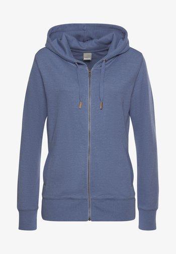 Zip-up sweatshirt - jeans-meliert