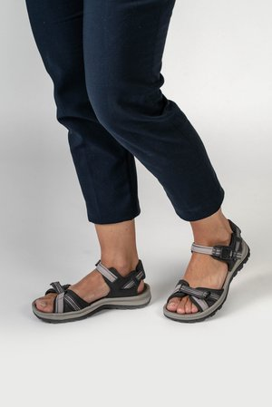Outdoorsandalen - dark grey/dawn pink