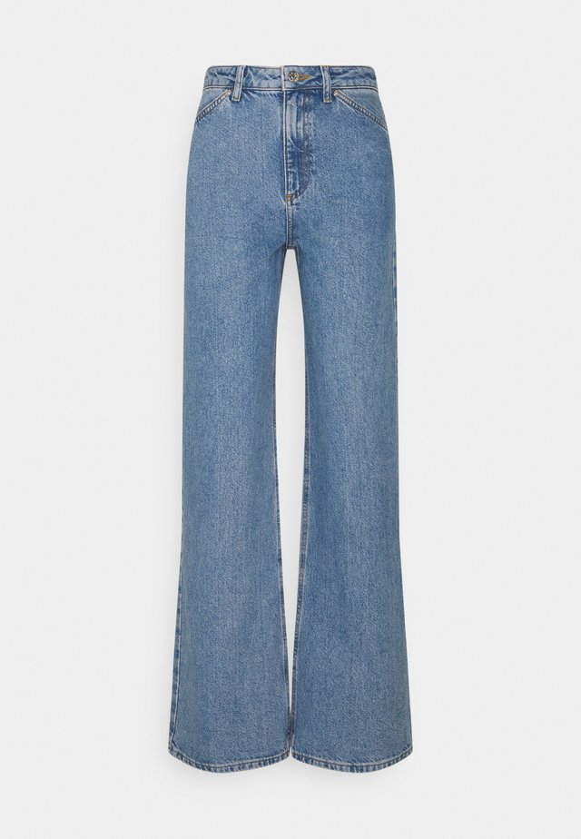 WIDE LEG - Relaxed fit jeans - mid blue