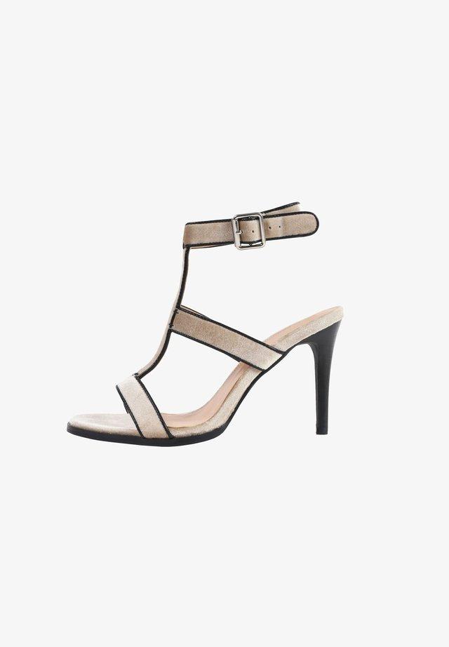 IBIZA - Sandalen met hoge hak - nude