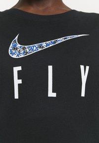 Nike Performance - DRY FLY TEE - Print T-shirt - black - 6