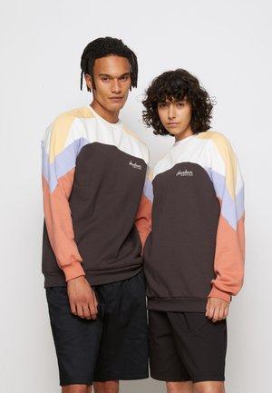 CREW - Sweatshirt - grey/marfil/albaricoque