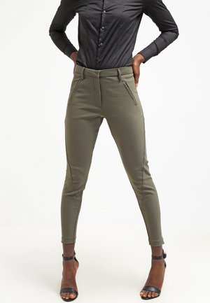 ANGELIE ZIP - Trousers - army