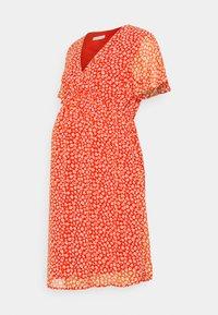 Anna Field MAMA - Denní šaty - red/white - 0