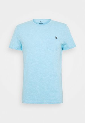 WITH CHEST POCKET - Basic T-shirt - teal