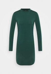 Mini high neck long sleeves bodycon dress - Shift dress - dark green